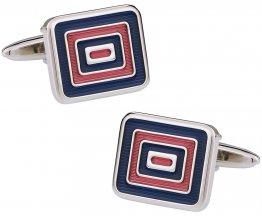 Blue & Red Enamel Cufflinks