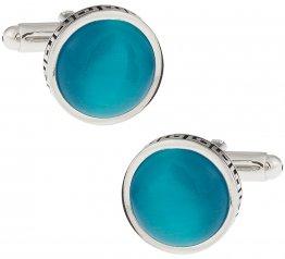 Bright Blue Greek Cufflinks