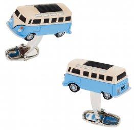 Camper Bus Cufflinks Blue