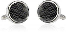Carbon Fiber Round Cufflinks