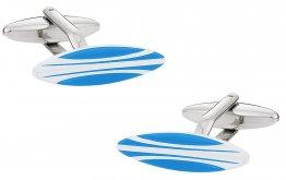 Surfboard Cuffinks in Blue & White