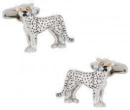 Cheetah Cufflinks with Swarovski Eyes