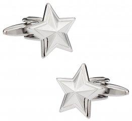 Colonial Silver Star Cufflinks