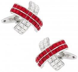 Crystal Cufflinks in Red