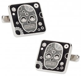 Crystal Sugar Skull Cufflinks