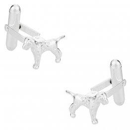 Dalmation Dog Cufflinks in Sterling Silver