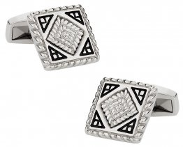 Detailed Stainless Steel Cufflinks