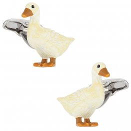 Duck Cufflinks Painted