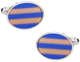 Fiber Optic Oval Cufflinks