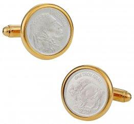 Genuine Silver Bullion Coin Cufflinks