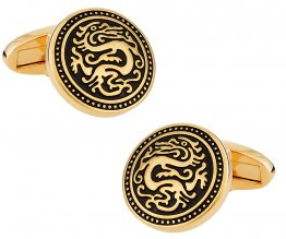 Gold Chinese Dragon Cufflinks