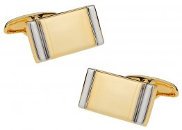 Gold Silver Bar Cufflinks