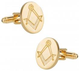 Gold Tone Freemason Cufflinks