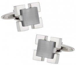 Gray Glass Medalliion Cufflinks
