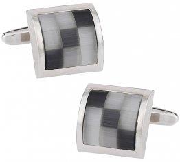Gray Glass Mosaic Cufflinks