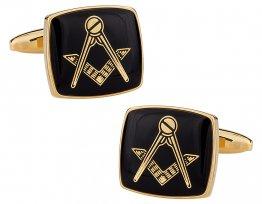 Masonic Compass Gold Cufflinks