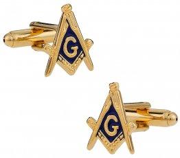 Men's Masonic Cufflinks in Gold - Made in USA
