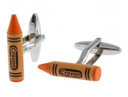 Orange Crayon Cufflinks