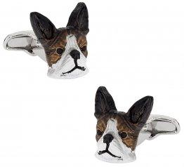 Painted Boston Terrier Cufflinks