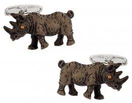 Painted Rhino Cufflinks
