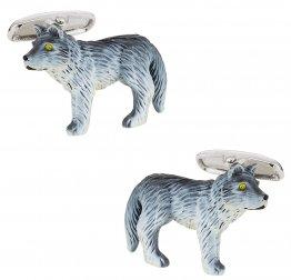 Painted Wolf Cufflinks