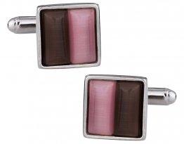 Pink & Brown Cufflinks