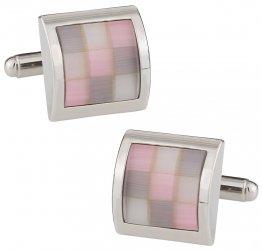 Pink Glass Mosaic Cufflinks