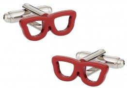 Red Nerd Glass Eyeglass Cufflinks