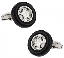 Rim and Tire Cufflinks