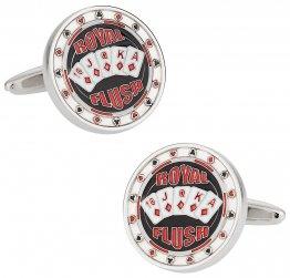 Royal Flush Poker Cufflinks