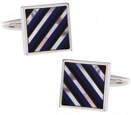Semi-Precious Striped Cufflinks