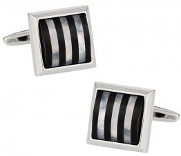 Semi Precious Striped Cufflinks