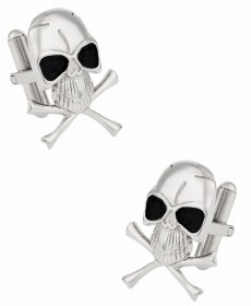 Skull Crossbones Cufflinks for Men