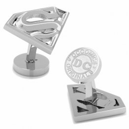 Stainless Steel Superman Cutout Cufflinks