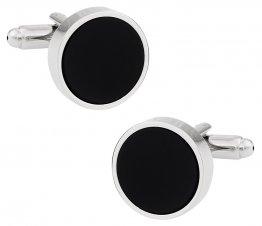 Stately Black Cufflinks