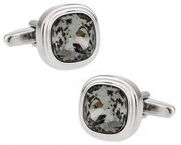 Stylish Swarovski Black Diamond Cufflinks