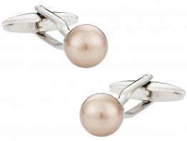 Swarovski Crystal Bronze Pearl Cufflinks