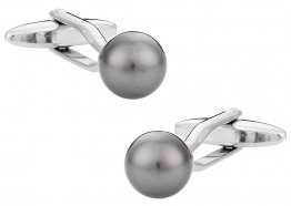 Swarovski Crystal Dark Gray Pearl Cufflinks