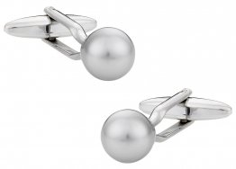 Swarovski Crystal Light Gray Pearl Cufflinks