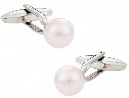 Swarovski Crystal Rosaline Pearl Cufflinks