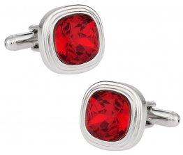 Swarovski Siam Red Crystal Cufflinks