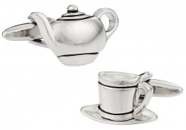Teapot Tea Time Cufflinks