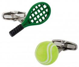 Tennis Racquet & Ball Cufflinks