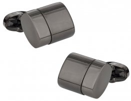 USB Flash Drive Cufflinks in Gun Metal 4GB Total