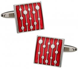 Water Drop Red Cufflinks