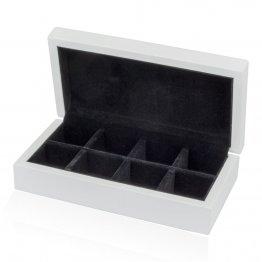 White 8-Pair Cufflinks Storage Box
