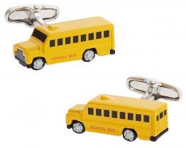 Yellow School Bus Cufflinks