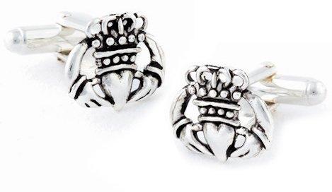 925 Sterling Silver Claddagh Cufflinks