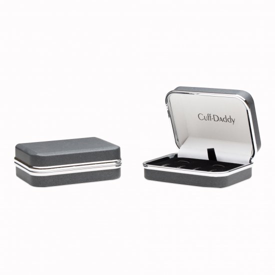 Mens Round Mother of Pearl Silver Cufflinks Studs Tuxedo Formal Set