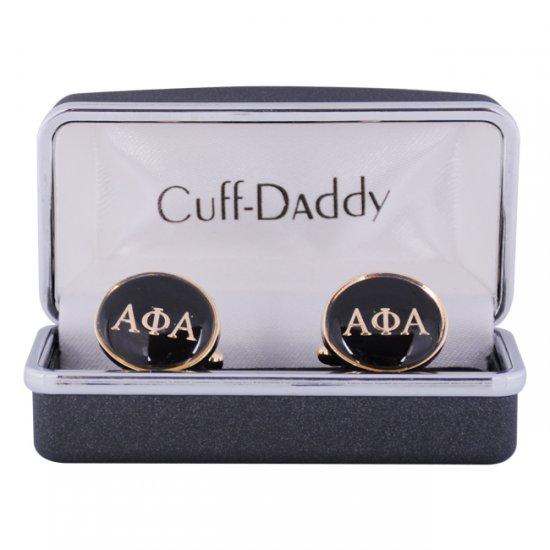 Alpha Phi Alpha Black Gold Fraternity Cufflinks